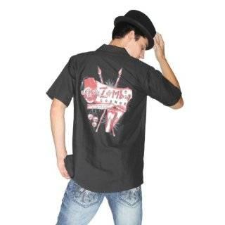 Lucky 13 Black Widow Hot Rod Mens Button Front Shirt