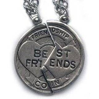 Sterling Silver Best Friend Two Piece Necklace Jewelry