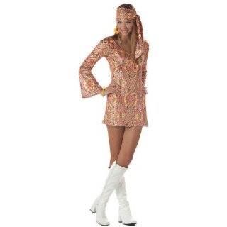 Sexy Hippie Dress Retro Sixties 60s 70s Disco Clothing