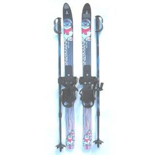 Whitewoods Nordic Cross Country Skis for Kids 100cm with Poles NEW