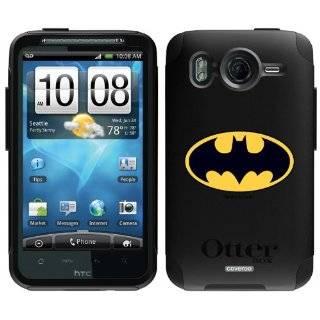 HTC INSPIRE 4G WHITE BATMAN SYMBOL ON A BLACK HARD CASE