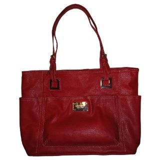 Womens Nine West Purse Handbag Heritage Tote Cherry