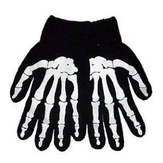 Glow/Dark Skeleton Adult Long Sleeve T Shirt In Black Clothing