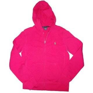 Womens Ralph Lauren Sport Hooded Sweat Jacket Hoodie Pink Size Large