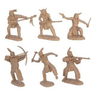 Plains Indian Warriors Plastic Army Men: 12 piece set of 54mm Figures
