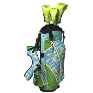 Babe Womens Ladies Golf Bag Stand Cart Turquoise w/ Free Headcovers