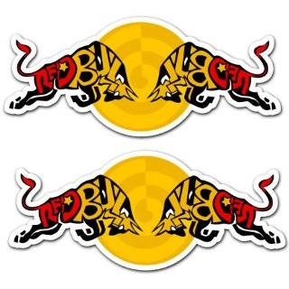 Red Bull Racing Team Art Car Bumper Sticker Decal Set of 2 7x3