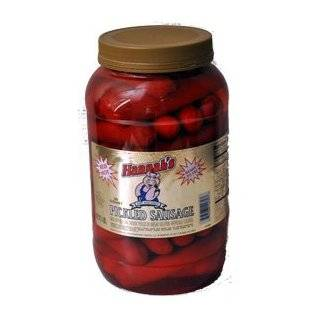 Gourmet Red Hot Pickled Polish Sausage   2 Jars  Grocery