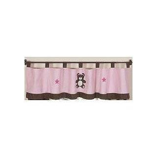 Chocolate Teddy Bear Girls Window Treatment Panels   Set of 2 Baby