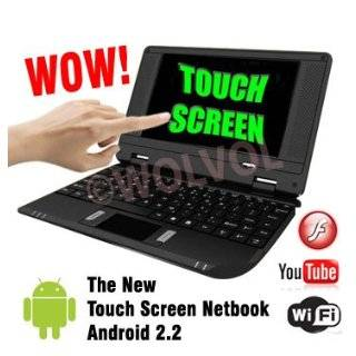 Touch Screen Black MINI LAPTOP NETBOOK 7 Computer Android 2.2 WiFi 3