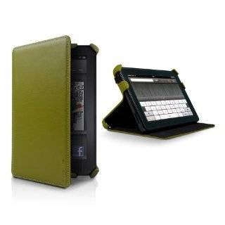 Kindle Fire Genuine Leather Cover by Marware, Green