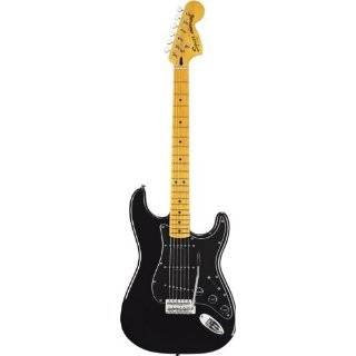 Fender 301227506 Squier VM Stratocaster 70S MN Electric Guitar, Black