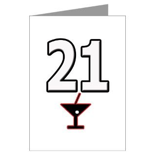 21 Gifts > 21 Greeting Cards > 21st Birthday Martini Greeting Card