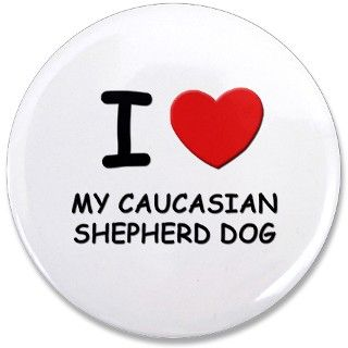 Caucasian Mountain Dog Gifts > Caucasian Mountain Dog Buttons > I love