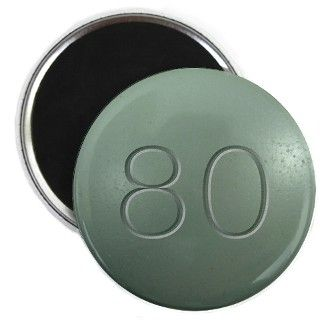 Oxycontin 80mg Green Pill Magnet by WingDingDesigns