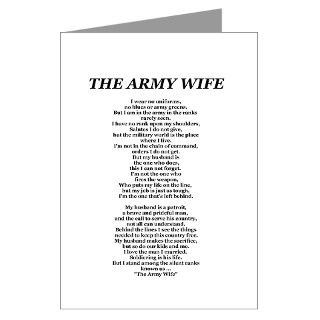 the army wife poem Greeting Card by thearmywife1235