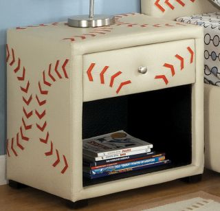 Enitial Lab Baseball themed Designed Nightstand