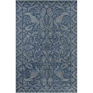 Hand tufted Vision Blue Wool Rug (5 x 76)