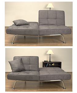 New Yorker Charcoal Microsuede Sofa Bed