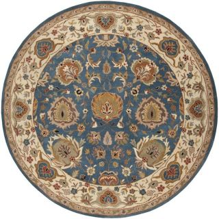 Hand tufted Ariel Blue Wool Rug (8 Round)