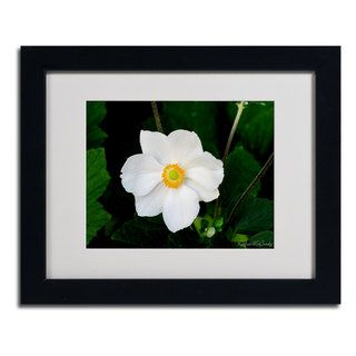 Kathie McCurdy Big White Flower Framed Matted Art