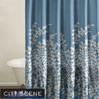 City Scene Branches French Blue Shower Curtain