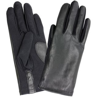 Isotoner Womens Stretch One Size Leather Gloves