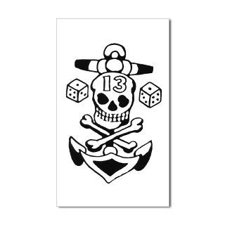 Tattoo Tribe > Cool Skull Designs > Lucky 13 Skull Tattoo