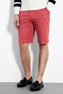 Polo Ralph Lauren  Coral Red Cotton Chino Preston Shorts by Polo Ralph Lauren
