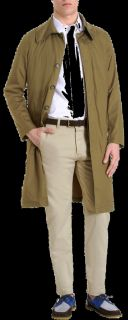 AMI Alexandre Mattiussi Button Up Trench Coat