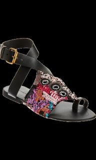 Antik Batik Beaded Toe Ring Flat Sandal