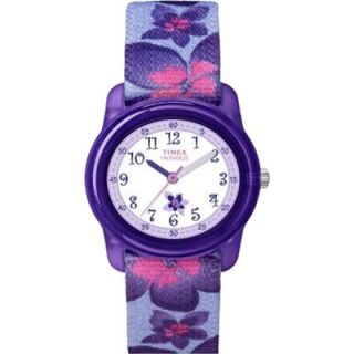 Timex Kidz Girls Analog Purple Flowers Watch