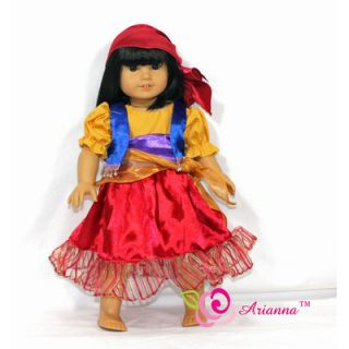 Arianna Esmeralda Gypsy Costume for 18 American Girl Doll