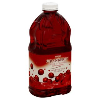 Meijer Juice Cocktail   Cranberry   1 Bottle (64 fl oz)