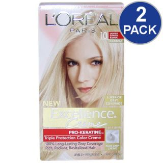 LOreal Excellence Creme Pro Keratine Hair Color   Light Blonde #10   2