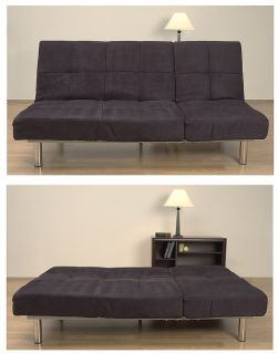 Cleo Black Microsuede Sofa Bed