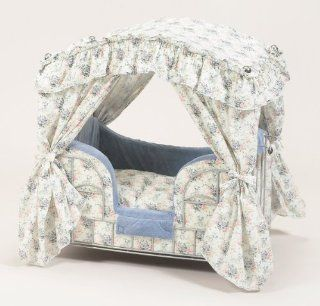 : Lazy Paws Designer Canopy Pet Bed   Multi Color Toile: Pet Supplies