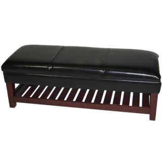 4D Concepts Large Faux Leather Bench w/Lift Top