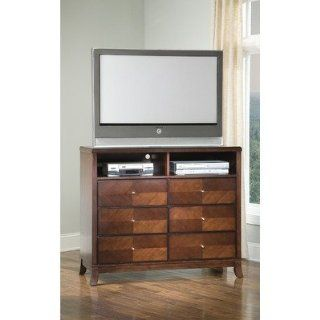 Furniture CTVAL2TVW Valerie Bedroom 48 TV Chest in Walnut: Furniture