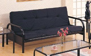 Coaster Modern Futon Sofa/Couch Frame, Black Metal: Home