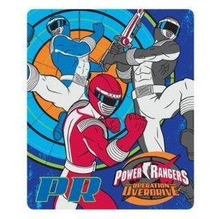 Power Rangers 3 Rangers Fleece Blanket, Blue, Boys Room