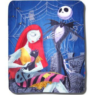 Nightmare Before Christmas Love Bloom Fleece Blanket: Home & Kitchen