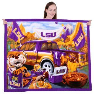 LSU TIGERS Scenic Blanket LSU TIGERS Fleece Blanket LSU