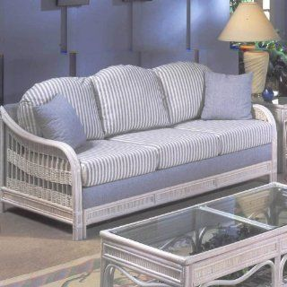 Queen Sleeper Sofa, ColorWhitewash, Size72 x 34 x 29, PatternBlue