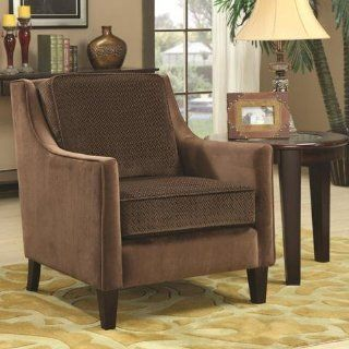 Coaster 902043 Traditional Accent Chair, Brown: Home