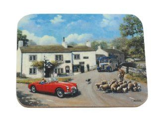 Kevin Walsh Mga At Malham Traditional Coaster: Home & Kitchen