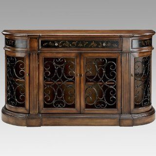 Stein World Kendel Bookcase Credenza with Iron Work Doors