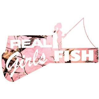LaZart Camo Real Girls Fish Wall Art Realtree Pink: Home