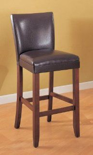 Coaster Contemporary Style Bar Stools, Brown Vinyl, 29