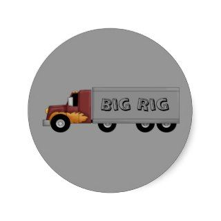 Big Rig 18 Wheeler Semi Truck Fun Stickers